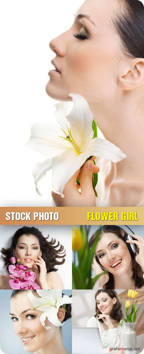 Stock Photo - Flower Girl