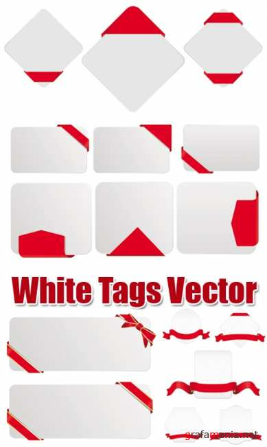 White Tags Vector