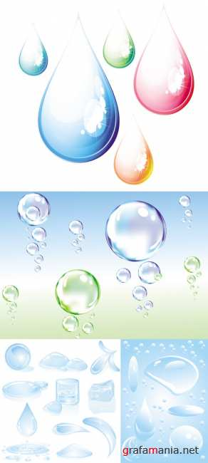 Bubbles & Drops Vector