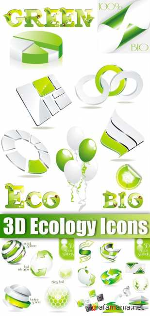 3D Ecology Icons