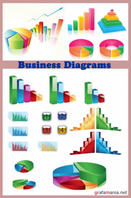 Business Diagrams 3 set