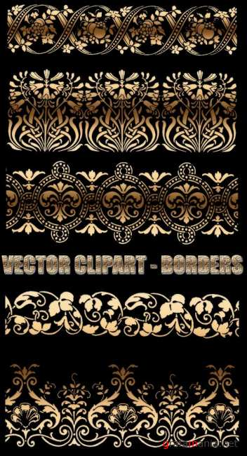 Vector clipart - Floral borders