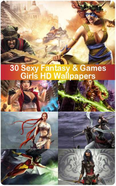 30 Sexy Fantasy & Games Girls HD Wallpapers