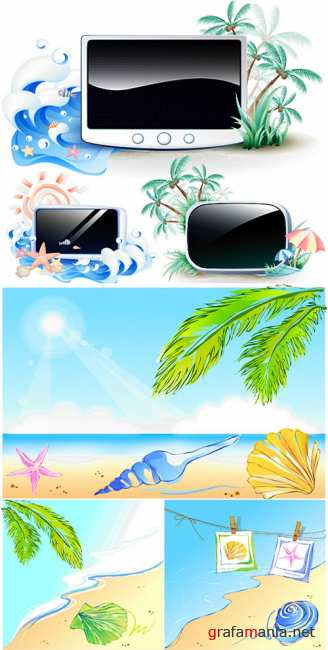 Hot summer vectors 3