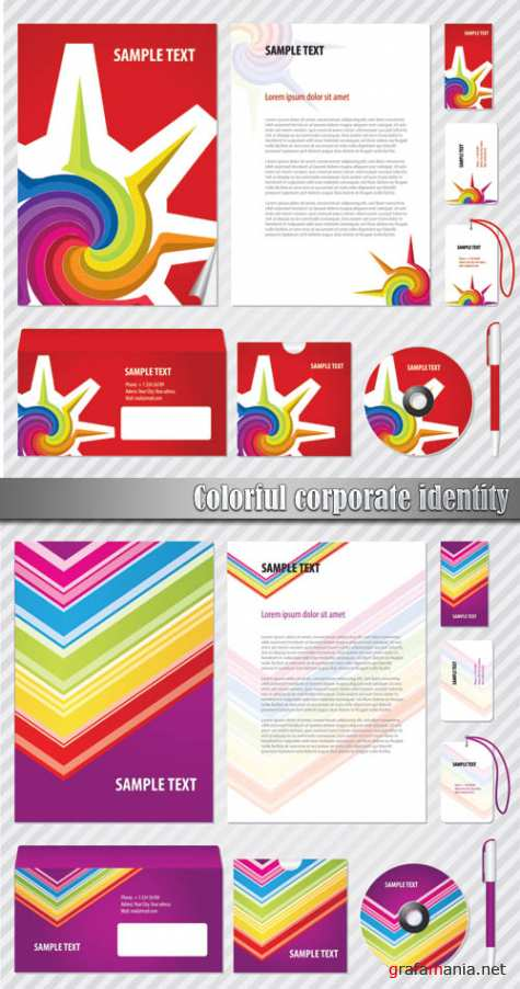 Colorful corporate identity