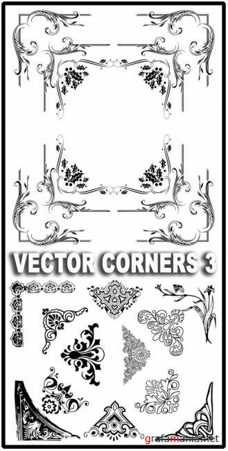 Design element - Vector corners 3