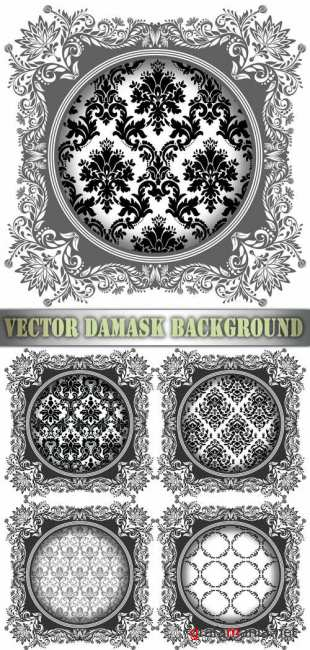 Vector Damask Background