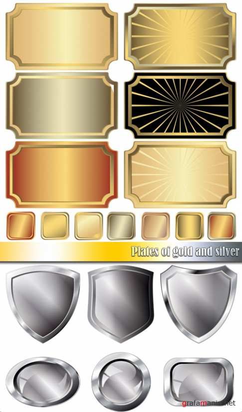 Plates of gold and silver