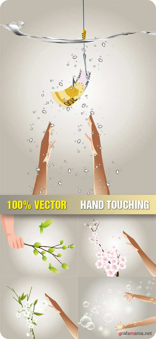 Stock Vector - Hand Touching