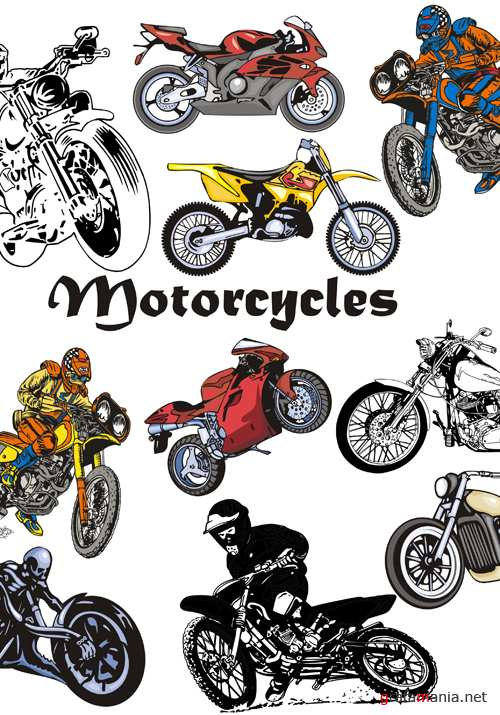 Motorcycles Vector Pack