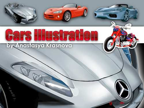 Cars Illustrations by Krasnova