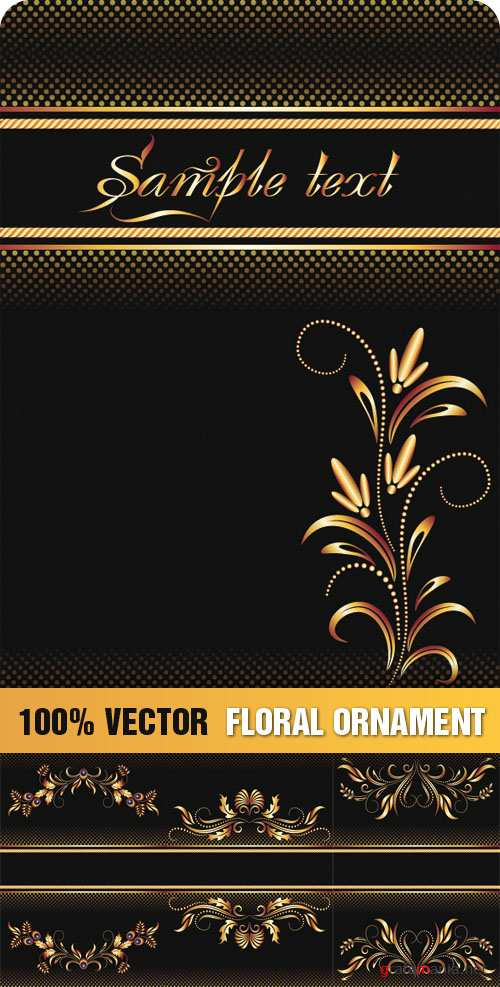 Stock Vector - Floral Ornament