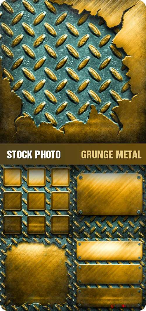 Stock Photo - Grunge Metal