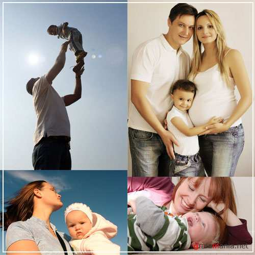 Stock photo - Parents and children