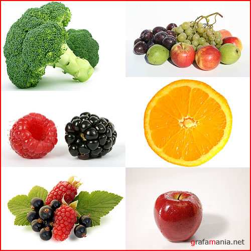 Fruit and vegetables on a white background-2