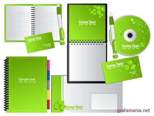 Green notebook Vector material
