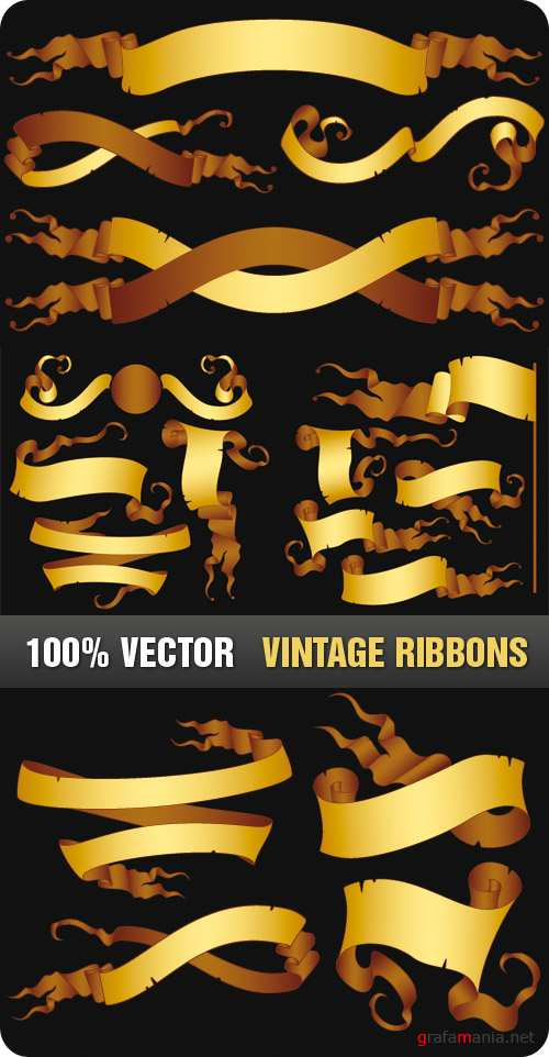 Stock Vector- Vintage Ribbons