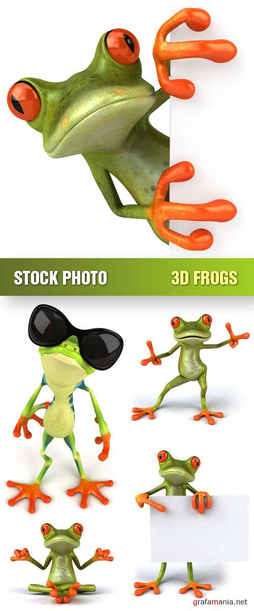 Stock Photo - 3D Frogs