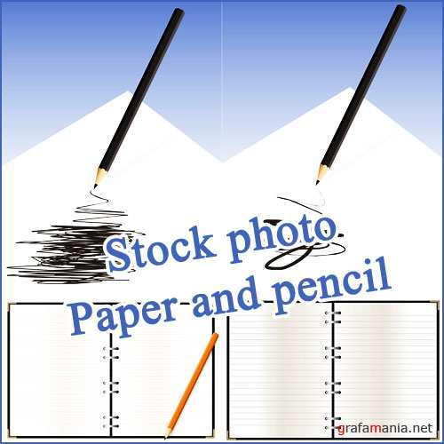 Stock photo - Paper and pencil