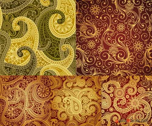 Beautiful background of classical pattern vector material
