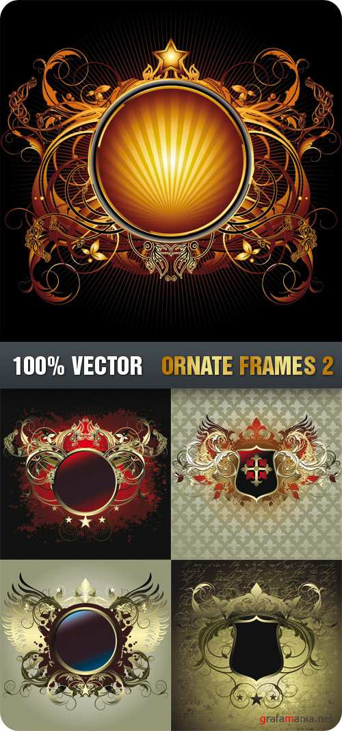 Stock Vector - Ornate Frames 2