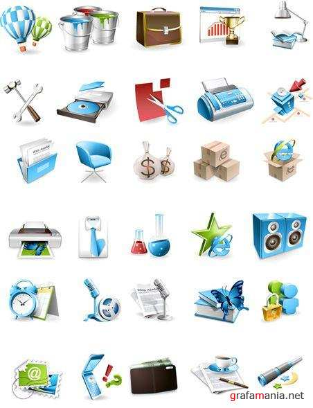 Blue Vector Icons by Asadal
