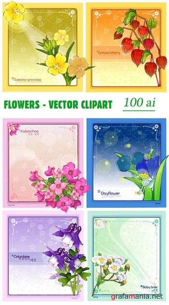 Flowers - vector clipart