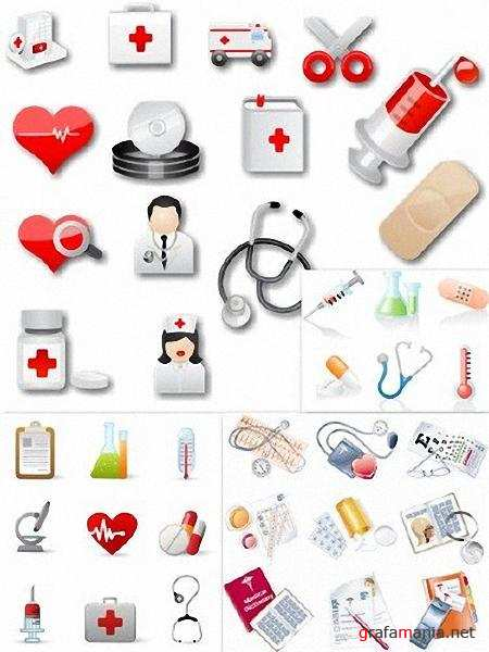 Vectors Medical icons