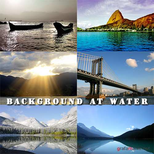 Stock photo - Background at water
