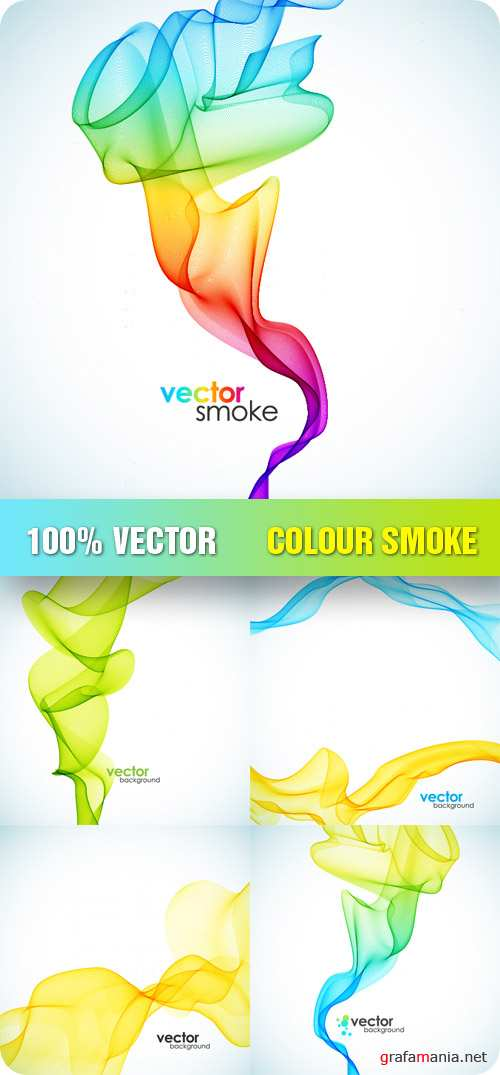 Stock Vector - Colour Smoke