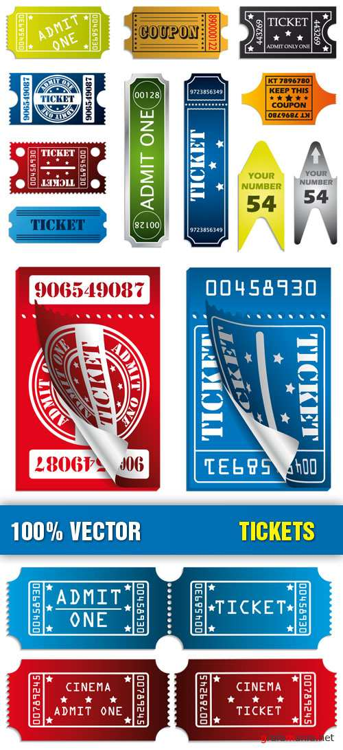 Stock Vector - Tickets