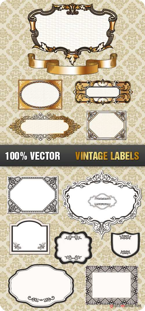 Stock Vecor - Vintage Labels