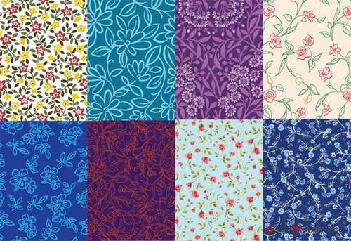 8 cute little background pattern vector material