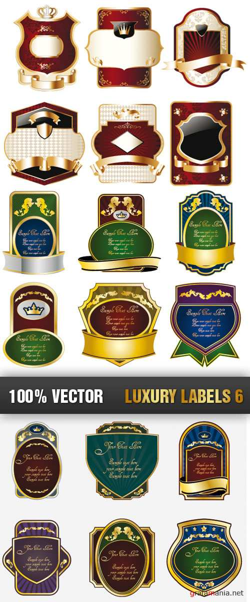 Stock Vector - Luxury Labels 6