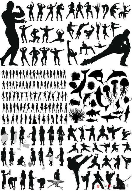 Vector Silhouettes Pack
