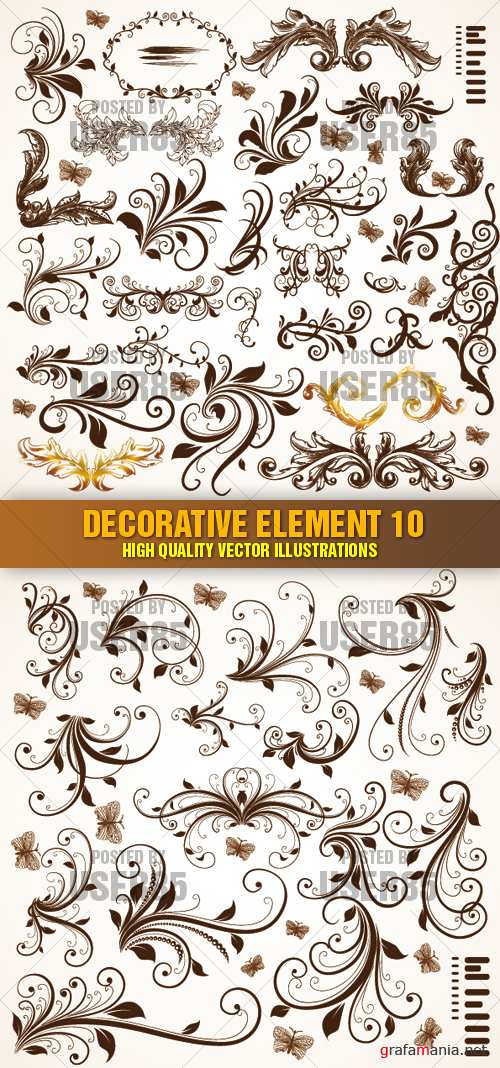 Stock Vector - Decorative Element 10