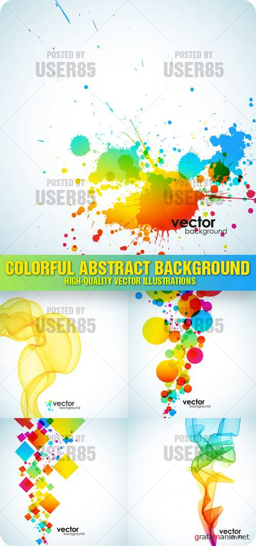 Stock Vector - Colorful Abstract Background