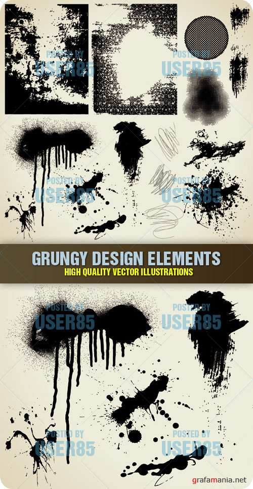 Stock Vector - Grungy Design Elements