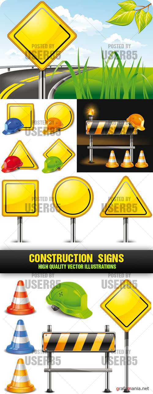 Stock Vector - Construction Signs