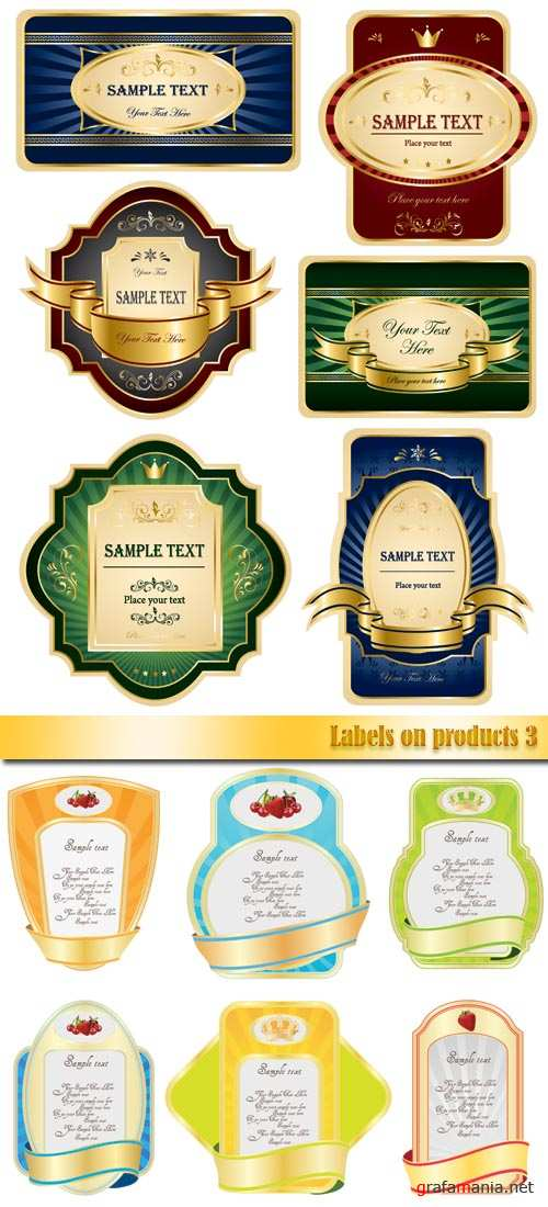 Labels on products 3