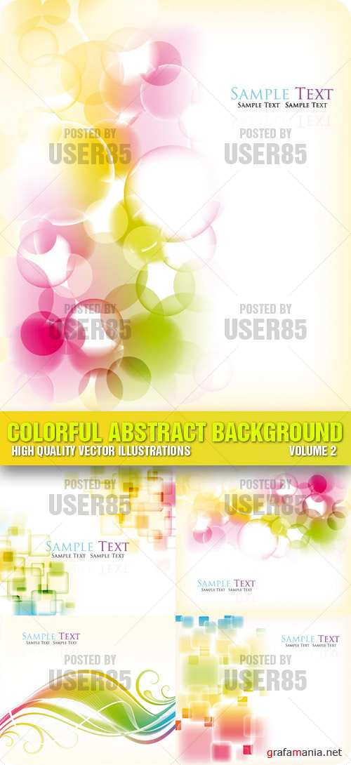 Stock Vector - Colorful Abstract Background 2
