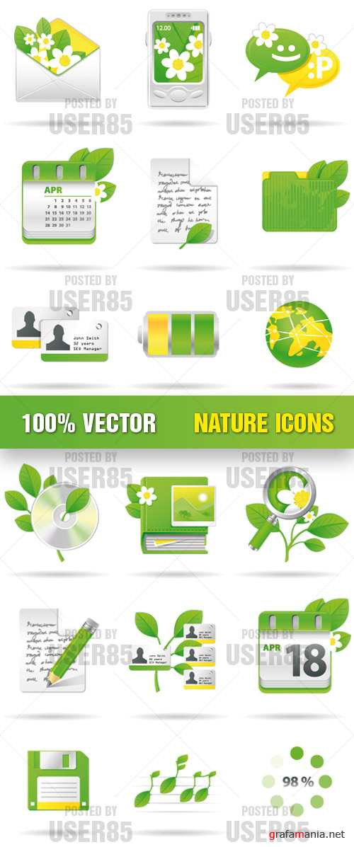 Stock Vector - Nature Icons