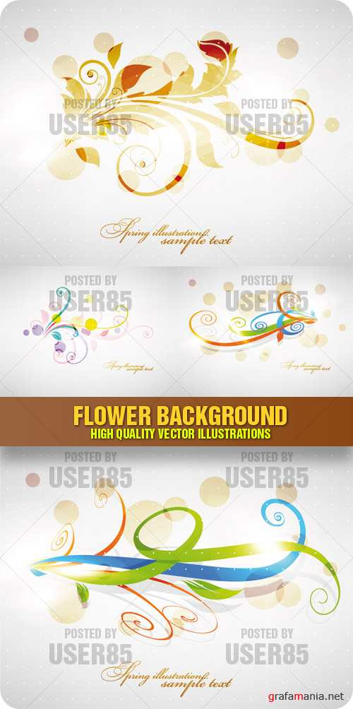 Stock Vector - Flower Background