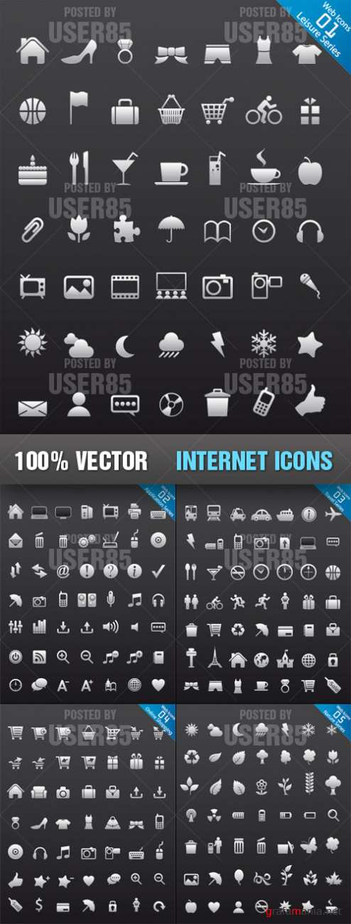 Stock Vector - Internet Icons