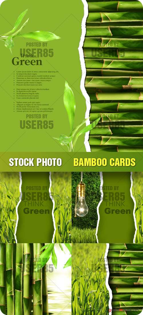 Stock Photo - Bamboo Cards