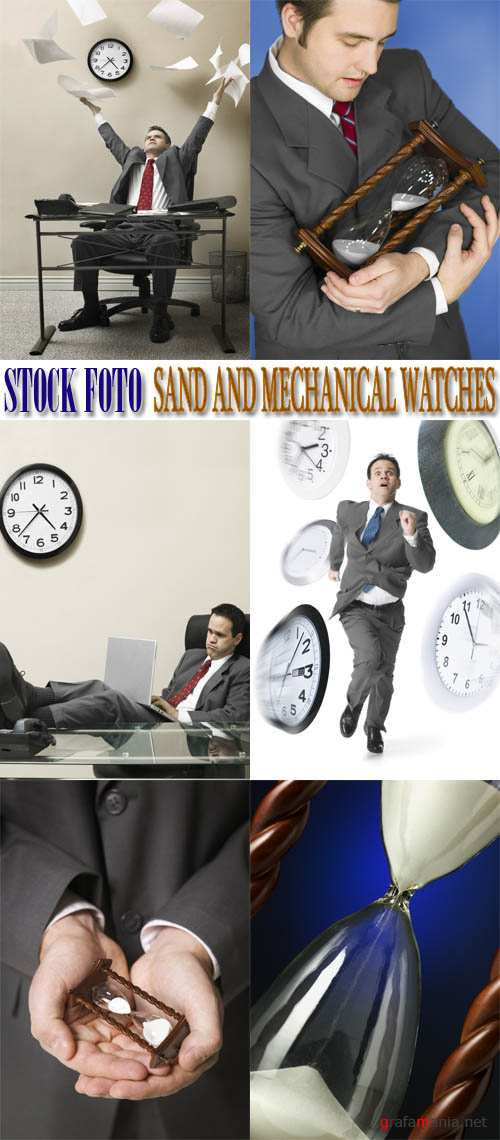 Stock Foto: Sand And Mechanical Watches