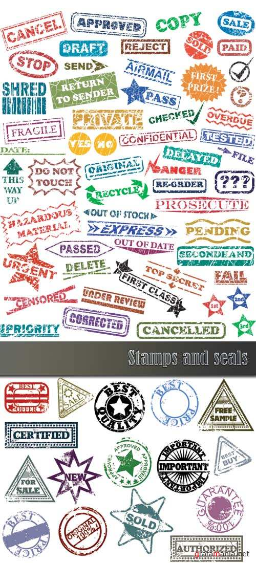 Stamps and seals