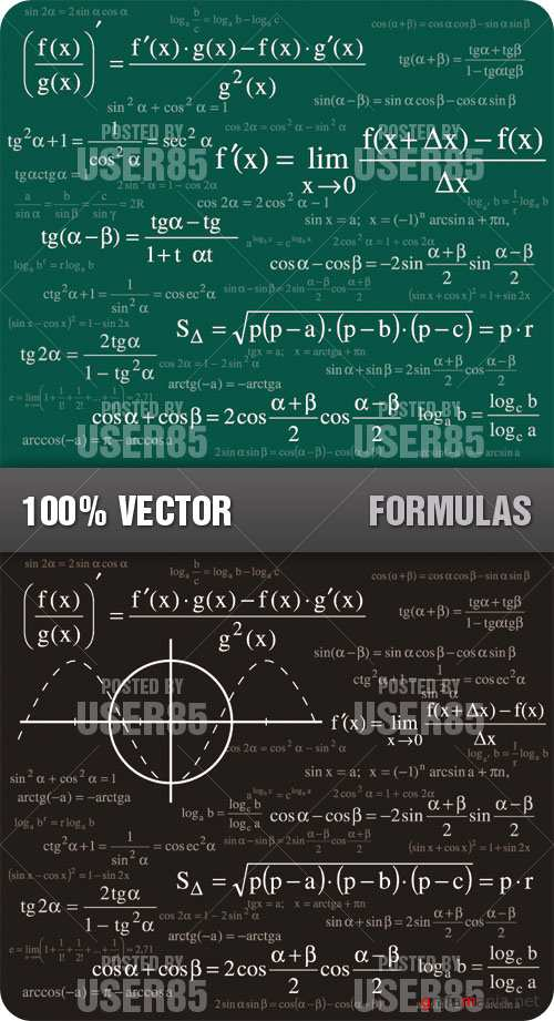Stock Vector - Formulas