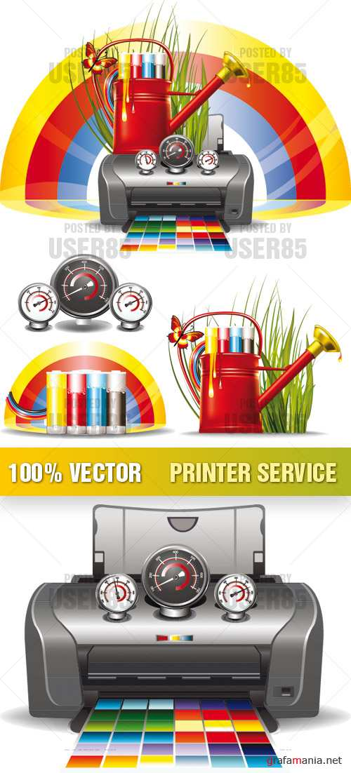 Stock Vector - Printer Service