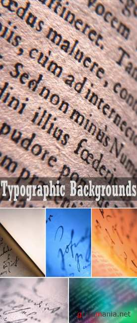 John Foxx Background Series - Typographic Backgrounds